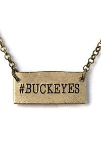 Silver Tone Copper #Buckeyes Necklace