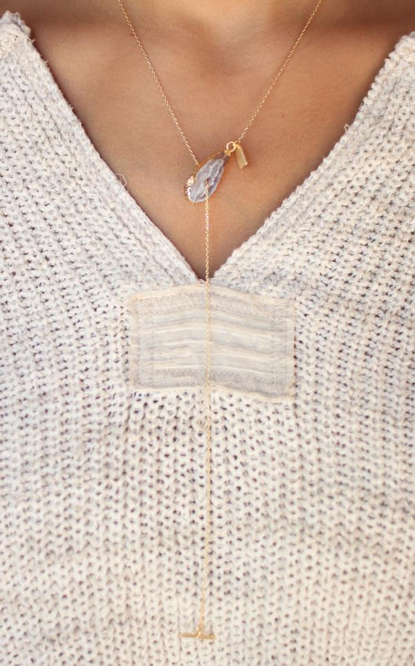 Natural Stone Toggle Necklace