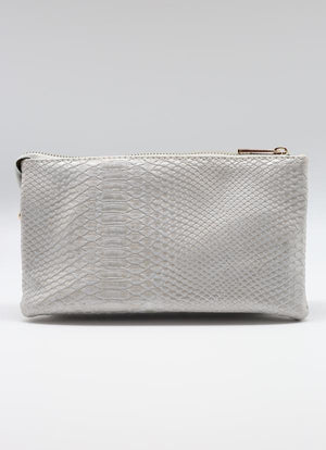 Liz Snake Lt. Grey Hologram Crossbody Bag
