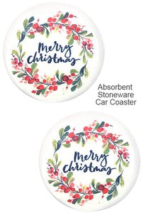 Holiday Ceramic Car Drink Coasters