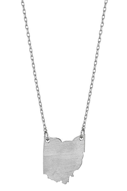 Ohio state pendant necklace state imprint on reverse side