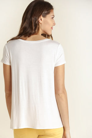 White Knot front Tee