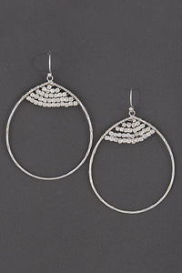Silver Cute Yet Fancy Thin Earrings