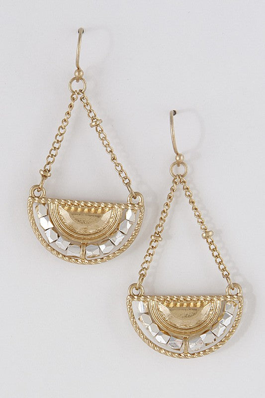 Gold Warrior Earrings