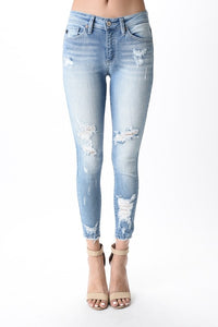 Light Wash Ankle Skinny Kan Cans