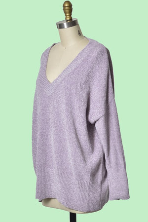 Lavender Super Soft Dolman Sleeve Sweater