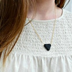 Triangle Lava Bead Essential Oil Diffuser Necklace