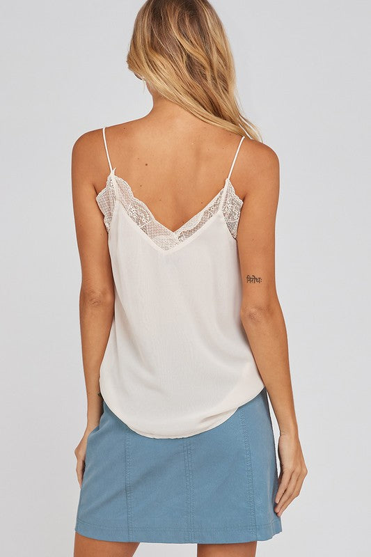 Ivory Lace Trimmed Cami