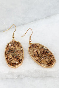 Brown Hammered Earring