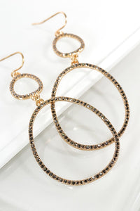 Gold Pave Double Oval