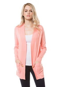 Dark Peach Cardigan