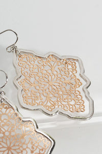Silver/Gold Flower Marquee Earring