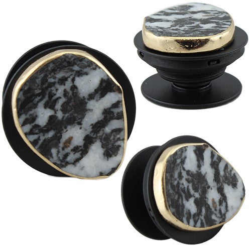 Gold Wrapped Agate PopSocket