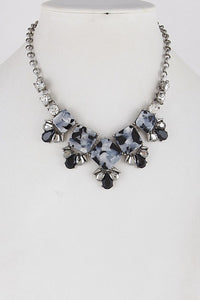 Grey Leopard Elegant Necklace