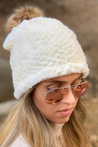 Ivory Soft Fleece Beanie