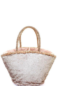 Gold Sequin Beach Tote