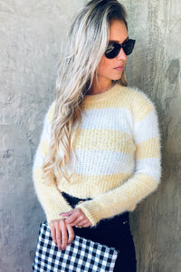 Yellow Color Block Sweater