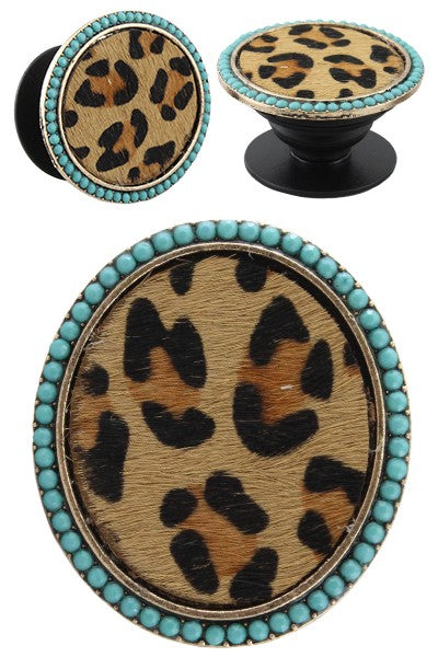 Turquoise Leopard PopSocket