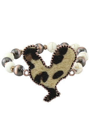 Leopard Chicken Hide Bracelet