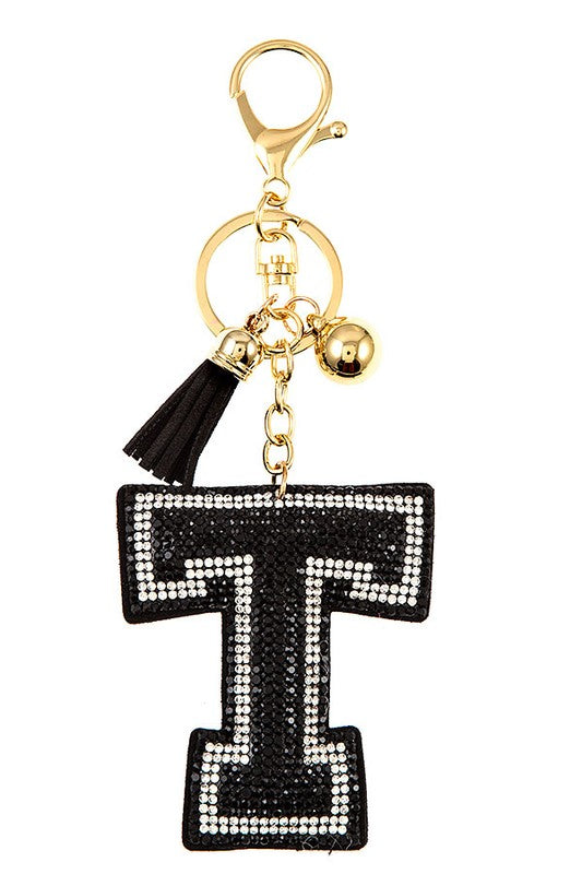 Black T Key Chain