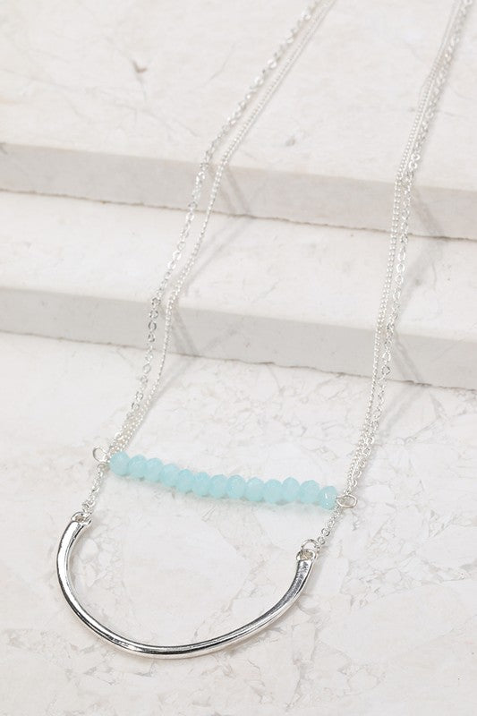 Mint Bead Double Layer Necklace