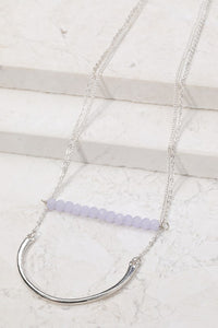 Purple Bead Double Layer Necklace