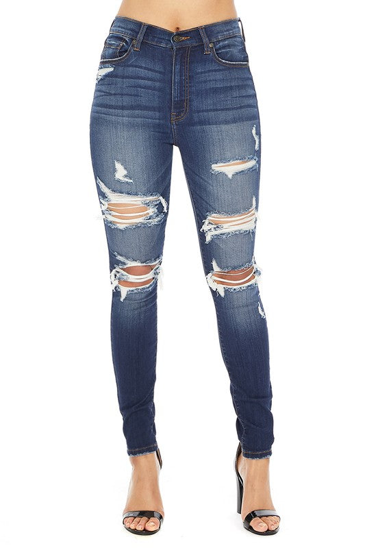 Bella Super High Rise Skinny Ankle Jeans Eunina