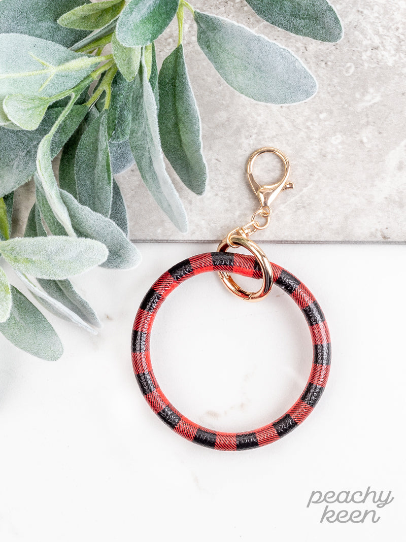 Buffalo Plaid Key Ring Bangle