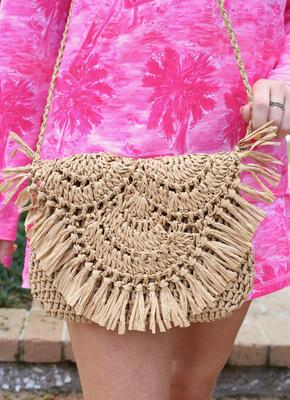 Coco Bay Straw Crossbody