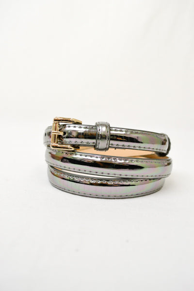 Charcoal Metallic Belt