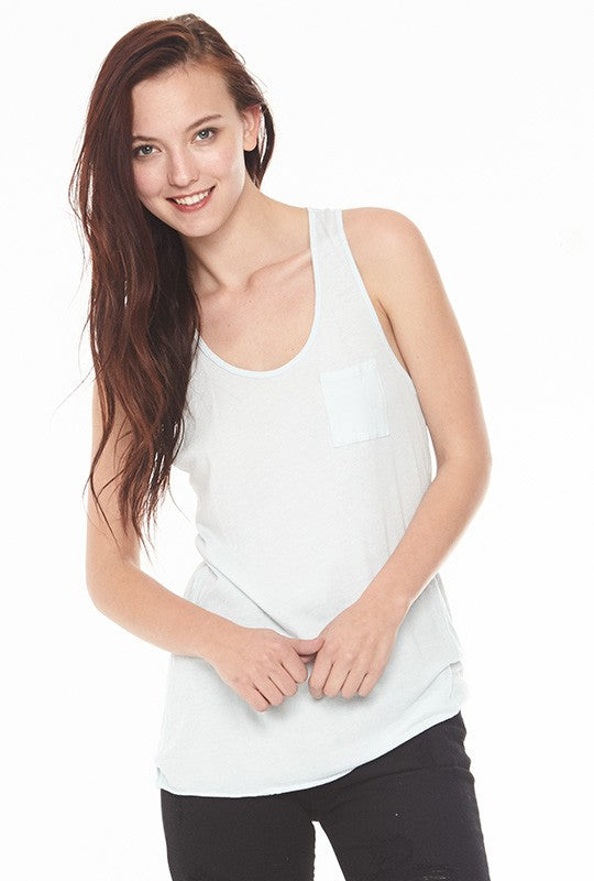 White Pocket Tank