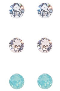 Mint Post Earring Set