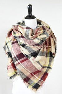Tan Blanket Scarf