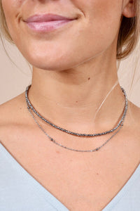 Silver Double Layer Delicate Chain
