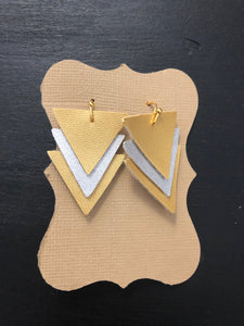 Metallic Triangle Earring