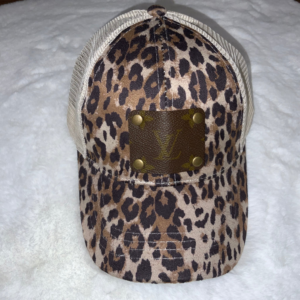 Louis Vuitton Upcycled Leopard/Cream Baseball Cap