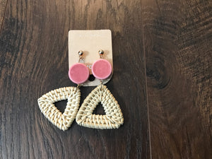 Triangle Straw Earring