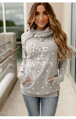 Let It Snow Ampersand Avenue Double Hoodie