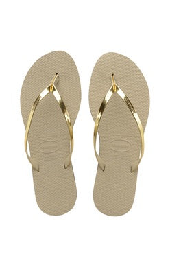 Gold You Metallic Havaianas