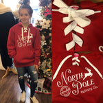 North Pole Delivery Lace-Up Hoodie