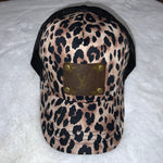 Louis Vuitton Upcycled Leopard/Black Baseball Cap