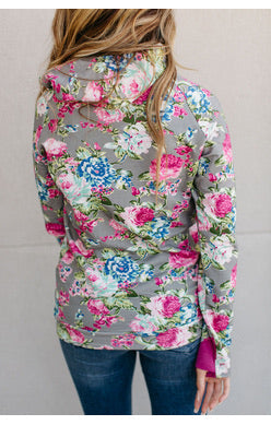 Floral Frenzy Double hooded Sweatshirt
