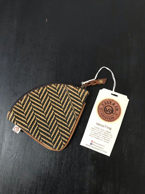 Brown Leather Zebra Coin Pouch