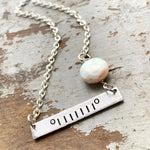 Mini Jeep Pearl Charm Bar Necklace