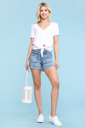 Judy Blue Plus Patch Pocket Shorts