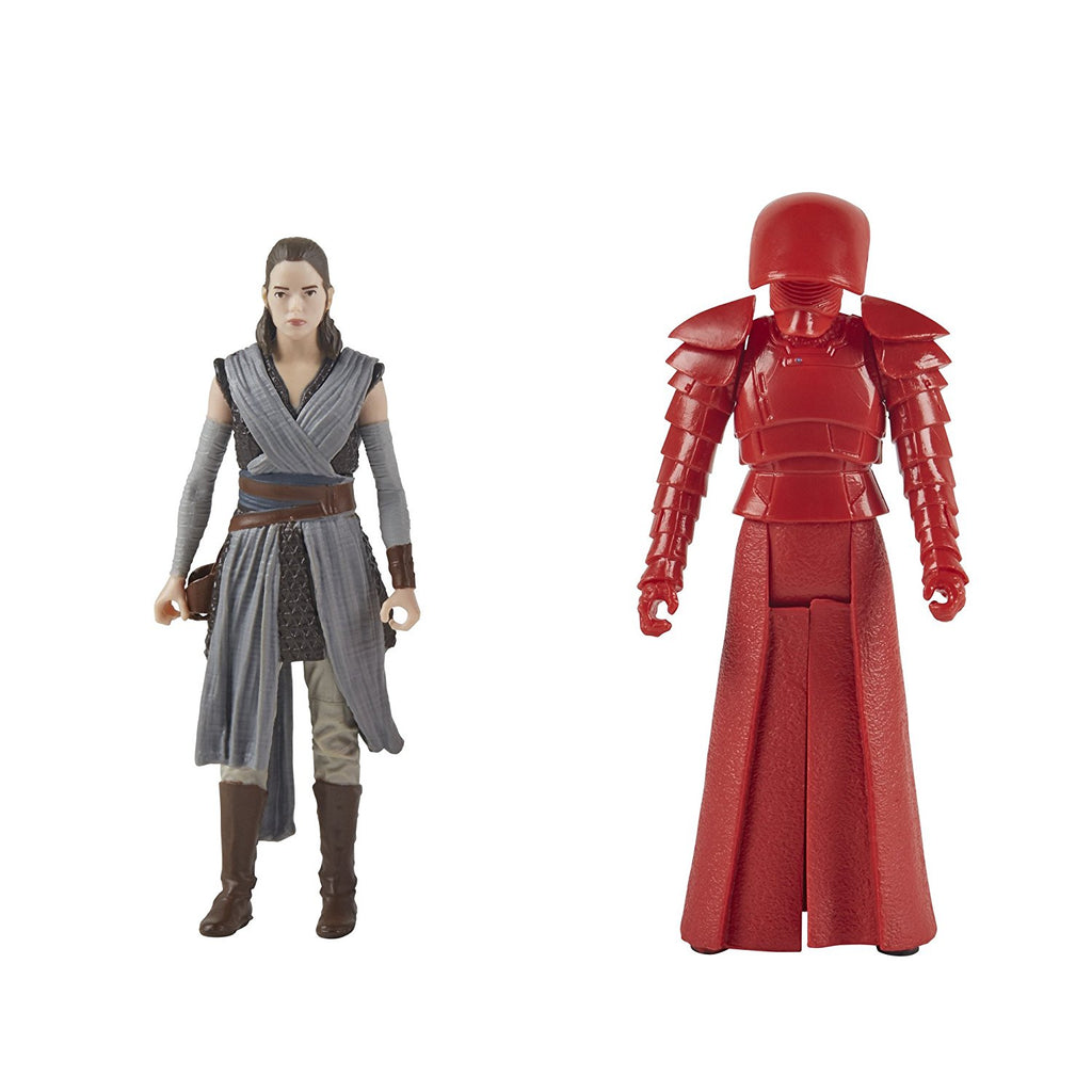 Star Wars: The Last Jedi Rey (Jedi Training) and Elite Praetorian Guard Figure 2-Pack 3.75 Inches