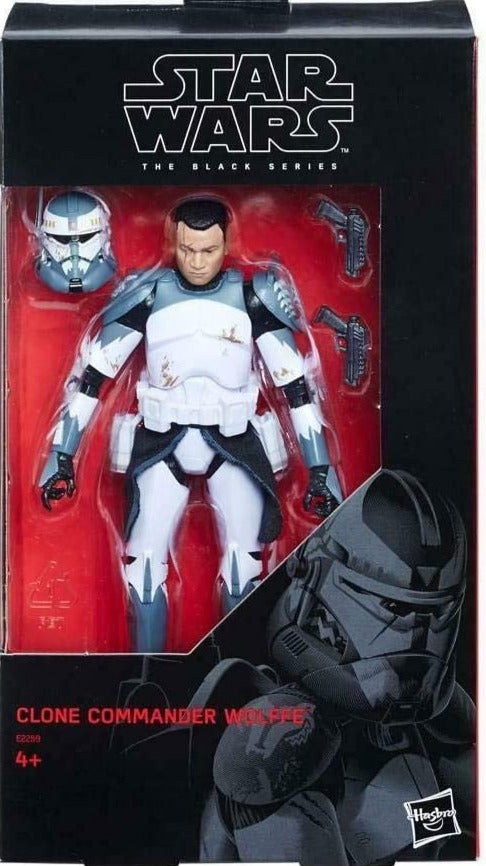 "Star Wars: Clone Wars Black Series 6"" Clone Commander Wolffe 630509658169"