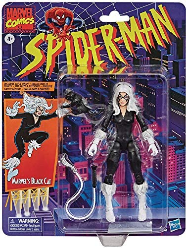 "Spider-Man Retro Marvel Legends Black Cat 6"" Action Figure 5010993767335"