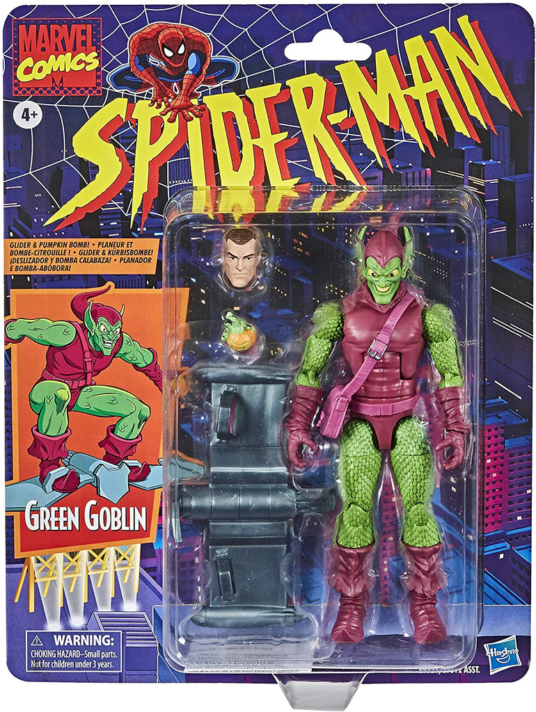 Spider-Man Retro Marvel Legends 6-Inch Green Goblin Action Figure 5010993715497