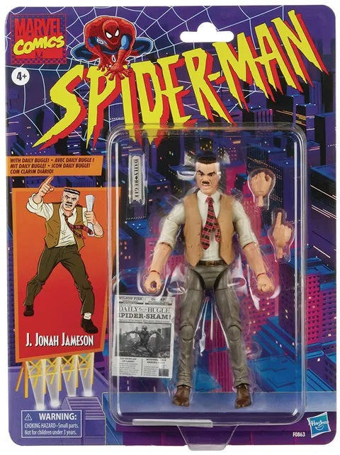 Spider-Man Retro Marvel Legends J. Jonah Jameson 6 inch Action Figure 5010993767304